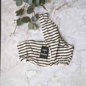 NBD x Naven Claudia Crop Top in Black White Stripe